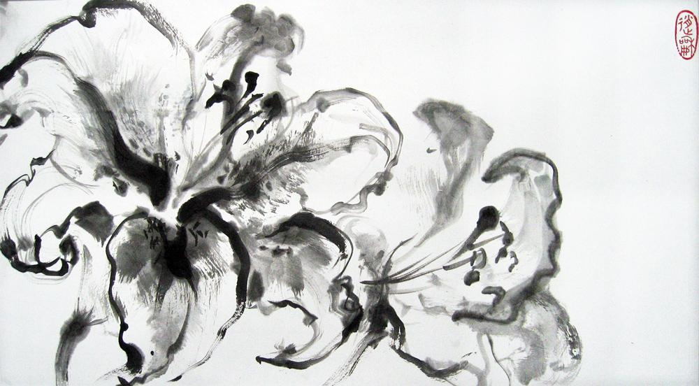 Lys, 2010 | Encre sur papier - Collection particulière