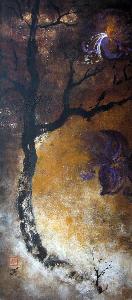 Baïkal, roi & reine, 2010 | Pigments sur toile | 135 x 60 cm