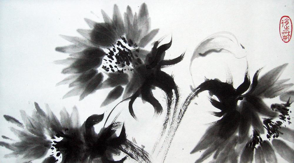 Tournesols, 2010 | Encre sur papier - Collection particulière