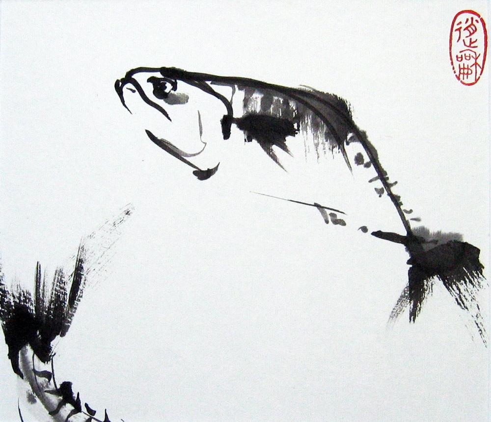 Poisson, 2010 | Encre sur papier