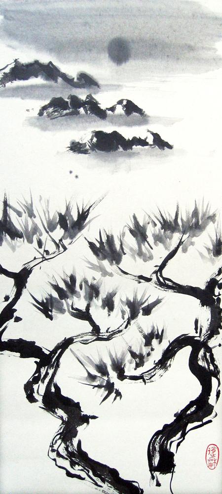 Korea, la danse des arbres, 2010 | Encre sur papier