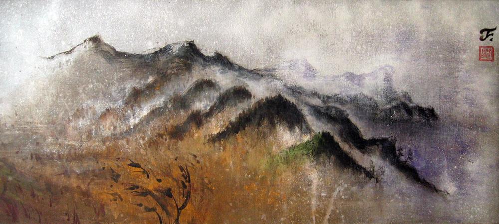 Korea, Naribunji, 2010 | Pigments sur toile | 130 x 57 cm