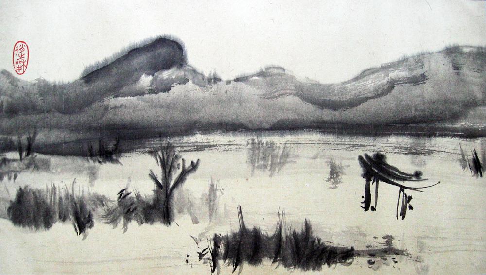 Baïkal, la porte de la destinée, 2010 | Encre sur papier - Collection particulière