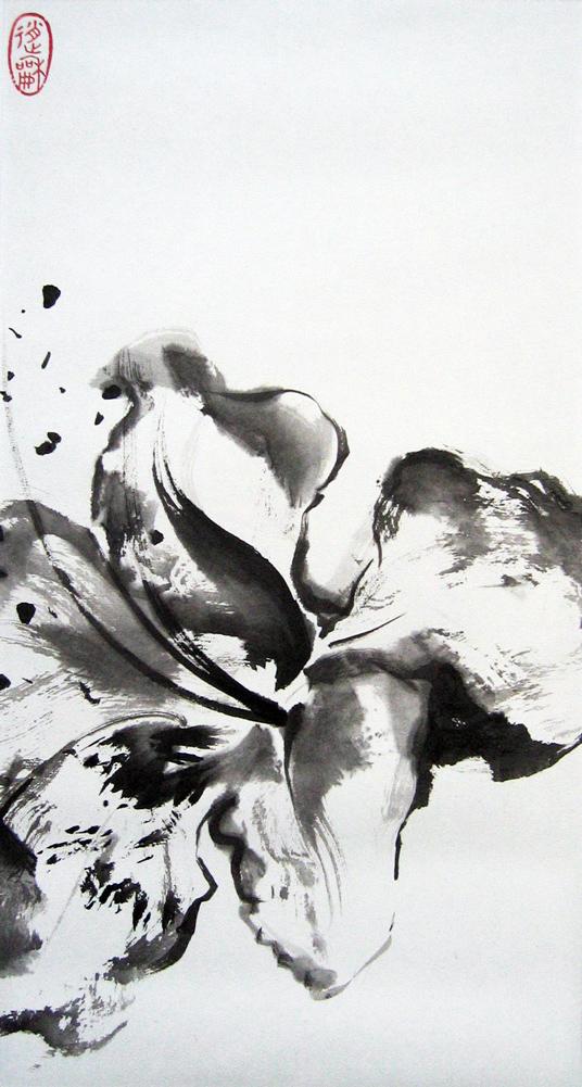 Rhododendron, 2010 | Encre sur papier - Collection particulière