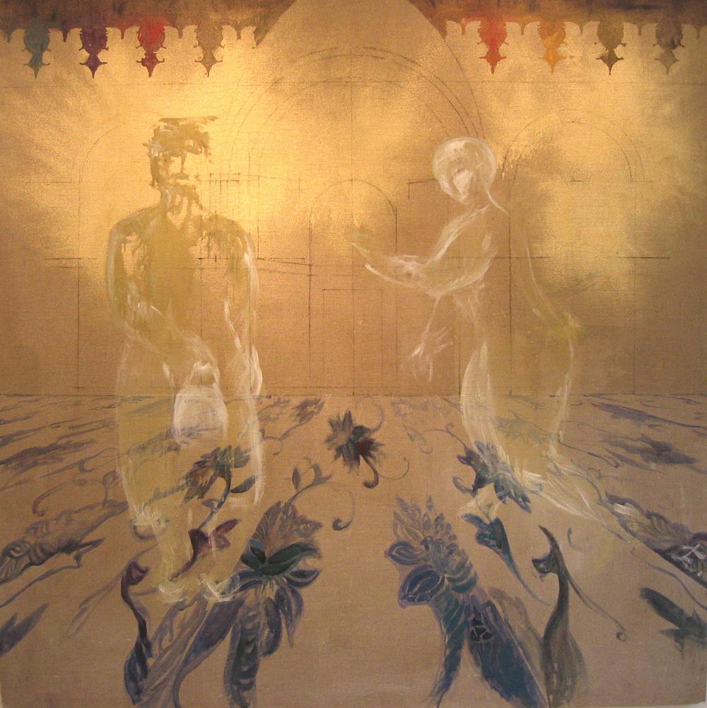 San Marco, 2004 | Huile sur toile, pigments d'or | 150 x 150 cm