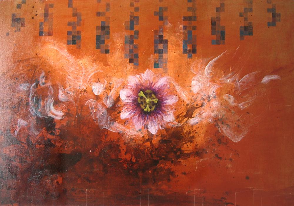 Brasilia et la fleur de maracuja, 2005 | Huile sur toile | 90 x 131 cm - Collection particulière