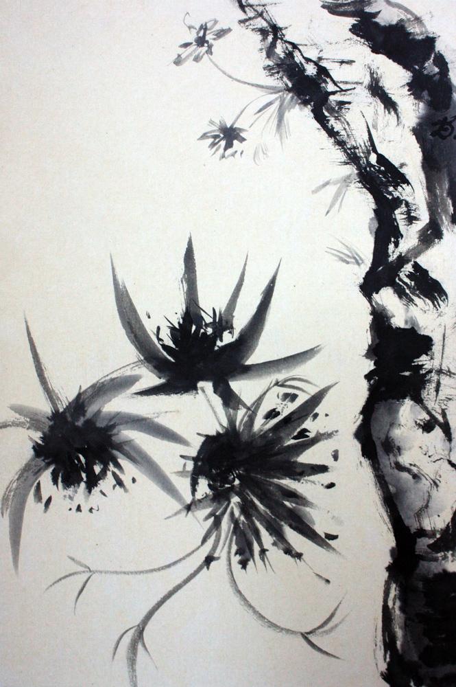 Kham, chardons, centaurée et rochers, 2008 | Encre sur papier