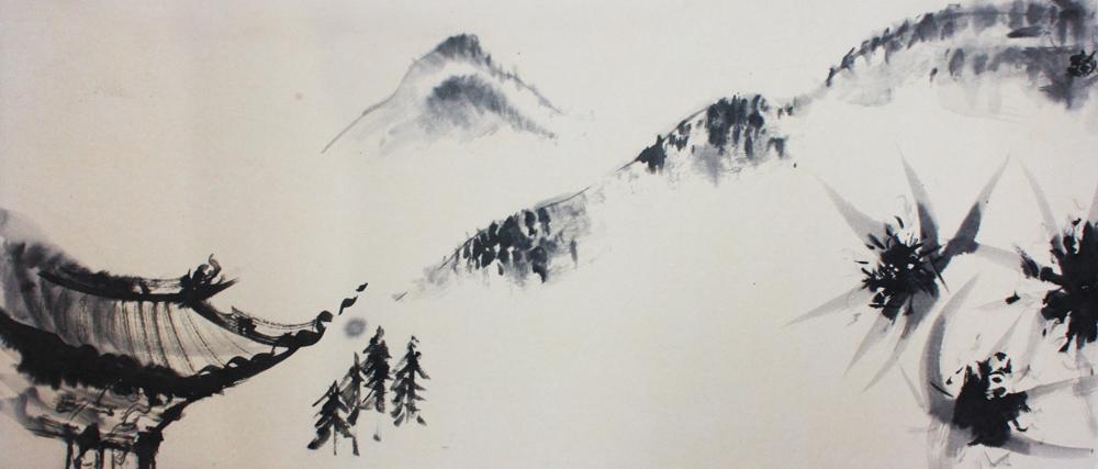 Kham, la visite au lama, 2008 | Encre sur papier  - Collection particulière
