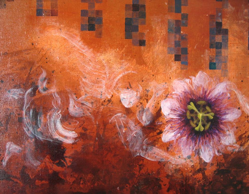 Brasilia et la fleur de maracuja (détail)
