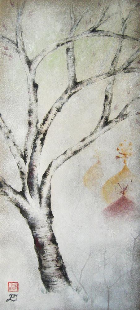 Errance, hiver, 2009 | Pigments sur toile | 120 x 52 cm