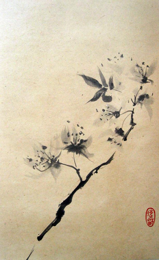 Branche fleurie,  2009 | Encre sur papier - Collection particulière