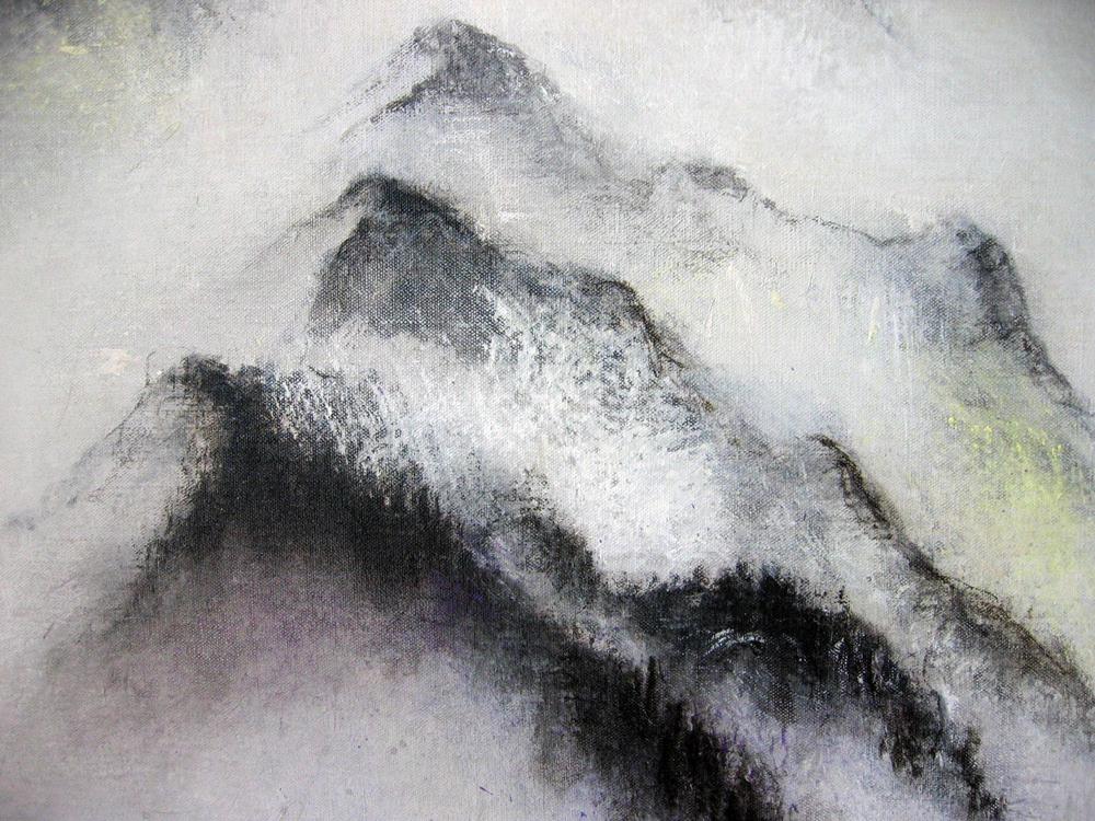 Errance, printemps (détail), 2009 | Pigments sur toile | 65 x 150 cm