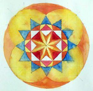 Exemple de Mandala basé sur le nombre 8
