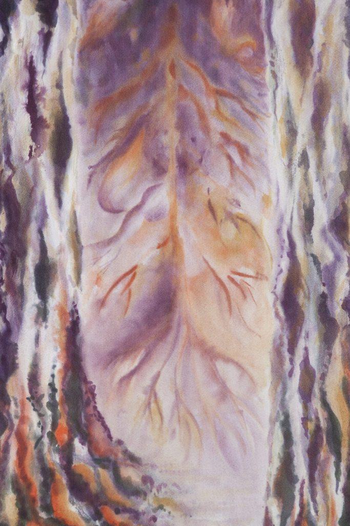 Ascension, extrait, 2014 I Yusen du soie japonaise I  Photo : Armelle Bouret