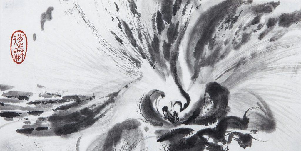 Orchidée en vol, 2015 I Encre sur papier I Photo : Armelle Bouret