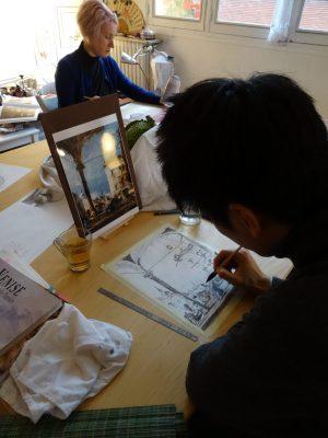 Atsuro peint d'après Guardi