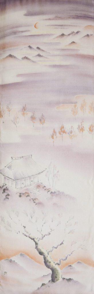 Eikando, 2014 I Yusen sur soie japonaise I 113 x 37 cm I Photo : Armelle Bouret