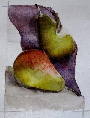 Drapé de poires